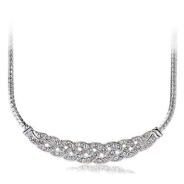 ZENA Stylish Necklace Made With Crystals From Swarovski