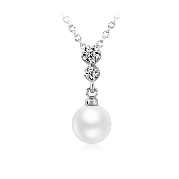 ZENA Pearl Necklace Made with Crystals From Swarovski