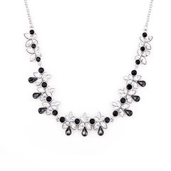Zena Classic Black Necklace Made With Crystals From Swarovski