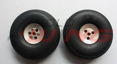 "KUZA Rubber Wheels with Aluminum Hubs  3"" - pair"