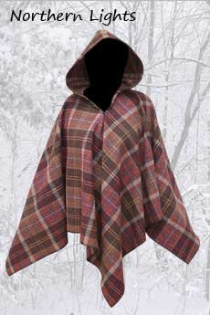 Wool Poncho Nothern Lights