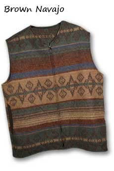 Vest Brown Navajo