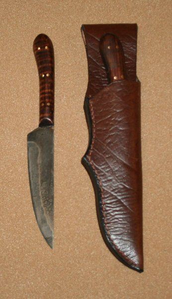 Large English Flat Back w/Leather Belt Sheath
