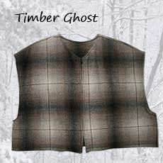 Mackinaw Wool Cape Timber Ghost
