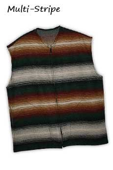 Wool Vest Multi Stripe