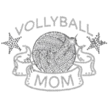 Black Ladies BLING Volleyball Mom