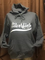 HEATHERED BLACK HOODIE SILVERFINS WITH TAIL