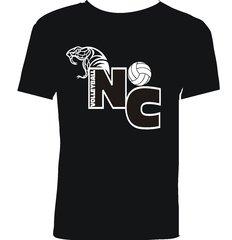 Black North Canyon Volleyball T-shirt