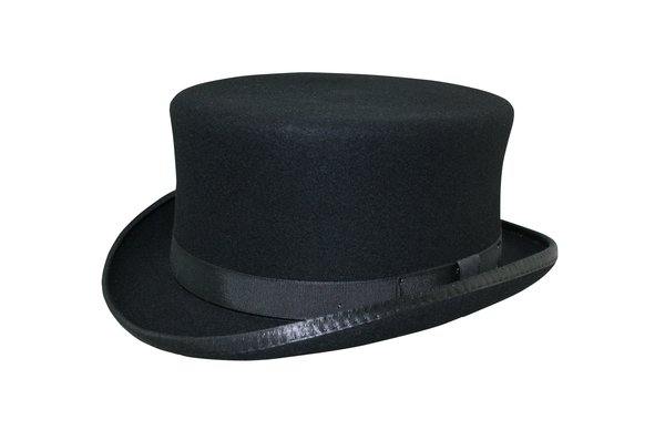 Stubby Carriage Top Hat in Black #NHT41-01