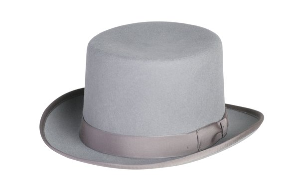 Classic Top Hat In Grey #NHT01-02