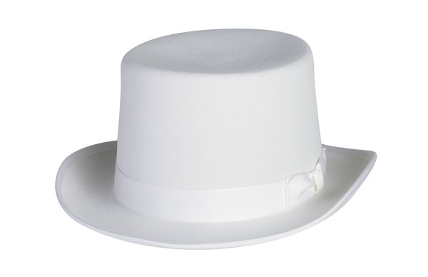 Basic Top Hat In White Size Small Only #NHT01-70S