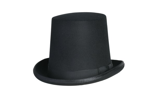 Stovepipe Tall Top Hat in Black #NHT29-01