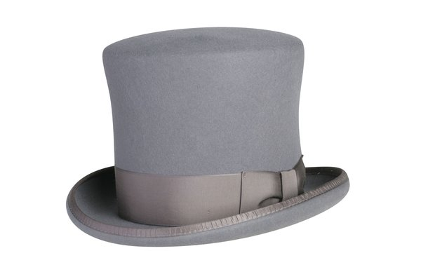 Victorian Caroler Tall Top Hat in Heather Grey #NHT18-02