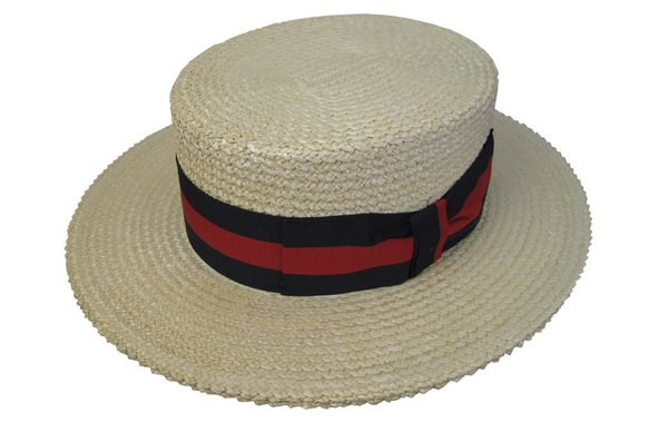 Authentic Italian Straw Boater Hat #NHT07