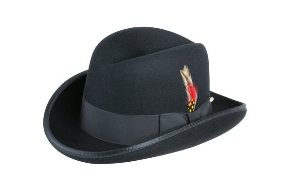 Godfather Homburg Fedora Hat in Black #NHT25-01