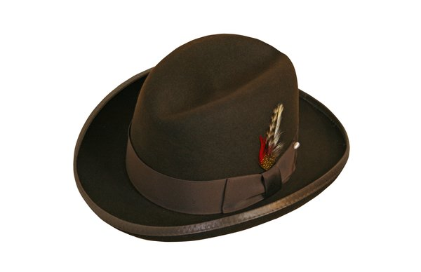 Godfather Homburg Fedora Hat in Fall Brown #NHT25-99