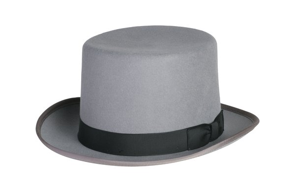 Classic Top Hat in Grey with Black Band #NHT01-02B