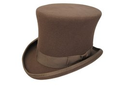 New! Victorian Squire Tall Top Hat in Pecan #NHT24-15N
