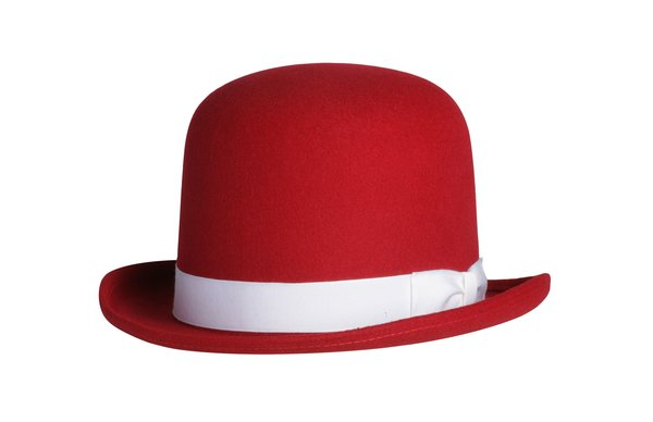 Tall Derby Bowler Hat in Red #NHT09-50