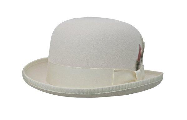 Deluxe Morfelt Derby Hat in Ivory #NHT31-71