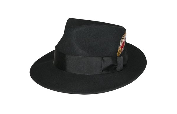 Kent Crushable Trilby Fedora Hat in Black #NHT37-01