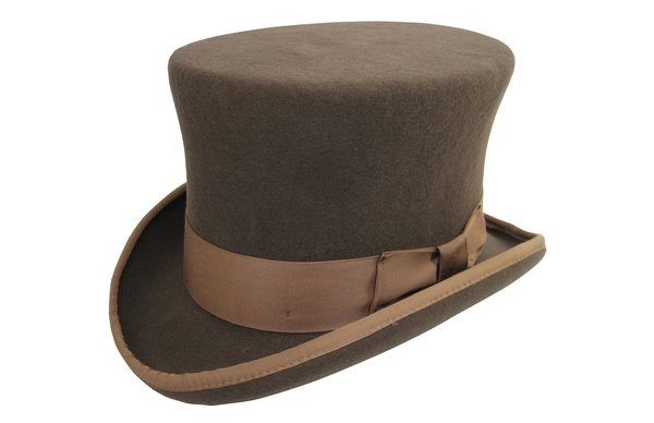 Prince Phillip Top Hat in Pecan #NHT36-15
