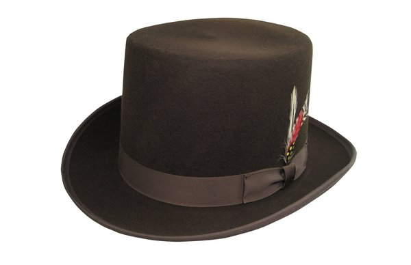 Deluxe Morfelt Top Hat in Fall Brown #NHT30-99