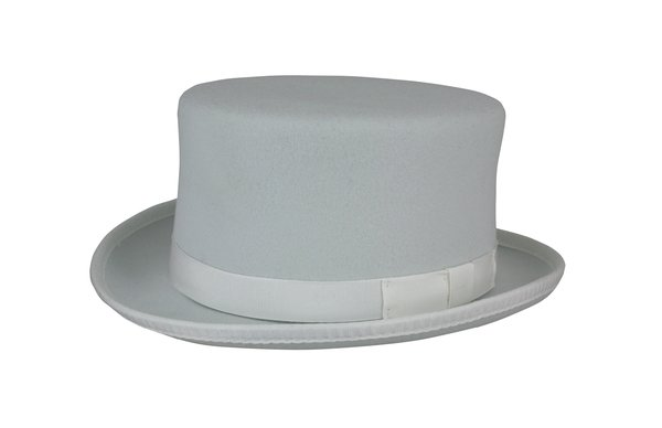 Stubby Carriage Top Hat in White #NHT41-70