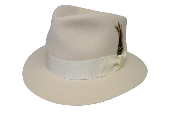 Cream Royalle Fedora Hat in Ivory #NHT22N-71
