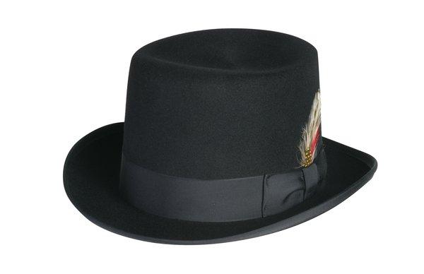Deluxe Morfelt Top Hat in Black #NHT30-01