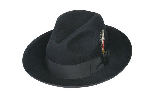 black gangster fedora 5bf31832823