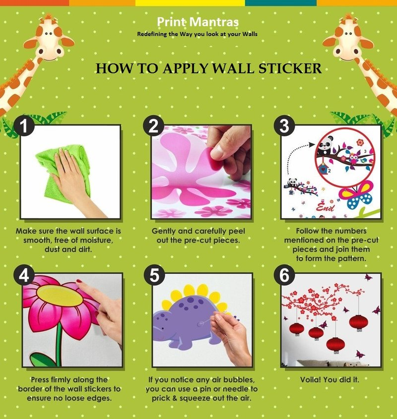 How To Online Shopping Of Wall StickersWall Decals - How to apply wall decals
