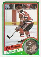 Pat Verbeek 1984-85 Topps Rookie card #90