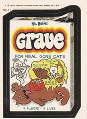 "1985 Topps Wacky Packages Sticker # 11 ""Grave"" Puzzle Back"