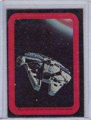 1977 Topps Star Wars Series 2 Sticker #21 Millennium Falcon