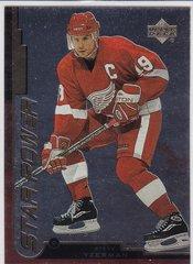 Steve Yzerman 1999-2000 Upper Deck Gold Reserve Hockey Star Power card # 140 Red Wings
