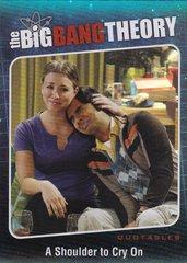 The Big Bang Theory Season 5 Trading Cards Quotables Insert card QTB-04