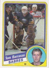 Tom Barasso 1984-85 Topps Rookie card #14