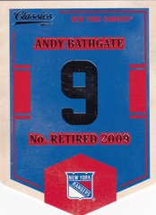 Andy Bathgate 2012-13 Classics Signatures Banner Numbers Insert card EN51