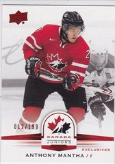 Anthony Mantha 2014-15 UD Team Canada Juniors card #55 Exclusives #d 012/199