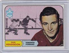 Paul Henderson 1968-69 Topps Hockey card #127