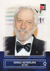 Donald Sutherland 2011 In The Game Canadiana base card #20 Blue parallel PR /50