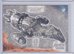 Firefly The Verse Jeffrey Benitez 1 of 1 Serenity Ship Sketch card FS-24