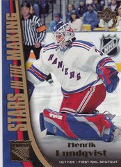 Henrik Lundqvist 2005-06 Upper Deck Hockey Stars In The Making card SM6