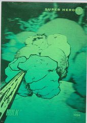 1992 Marvel Universe Hulk Green Hologram Insert card H-1