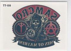 Sons Of Anarchy Seasons 1 - 3 Temporary Tattoo Insert TT-08 Cryptozoic 2014