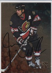 Jason York 1998-99 Be A Player Signature Series Autograph card #247 Gold Parallel