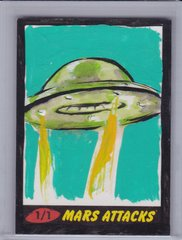 Mars Attacks Heritage John Soukup Full Color Artist Sketch card 1/1 Painted