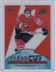 Brad Marchand 2017-18 UD Canadian Tire Team Canada Clear Cut POE card POE-11