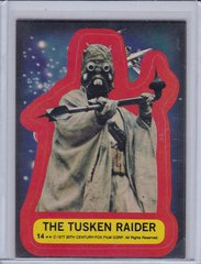1977 Topps Star Wars Series 2 Sticker #14 Tusken Raider